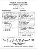 BLS 2020-2021 School Supply List