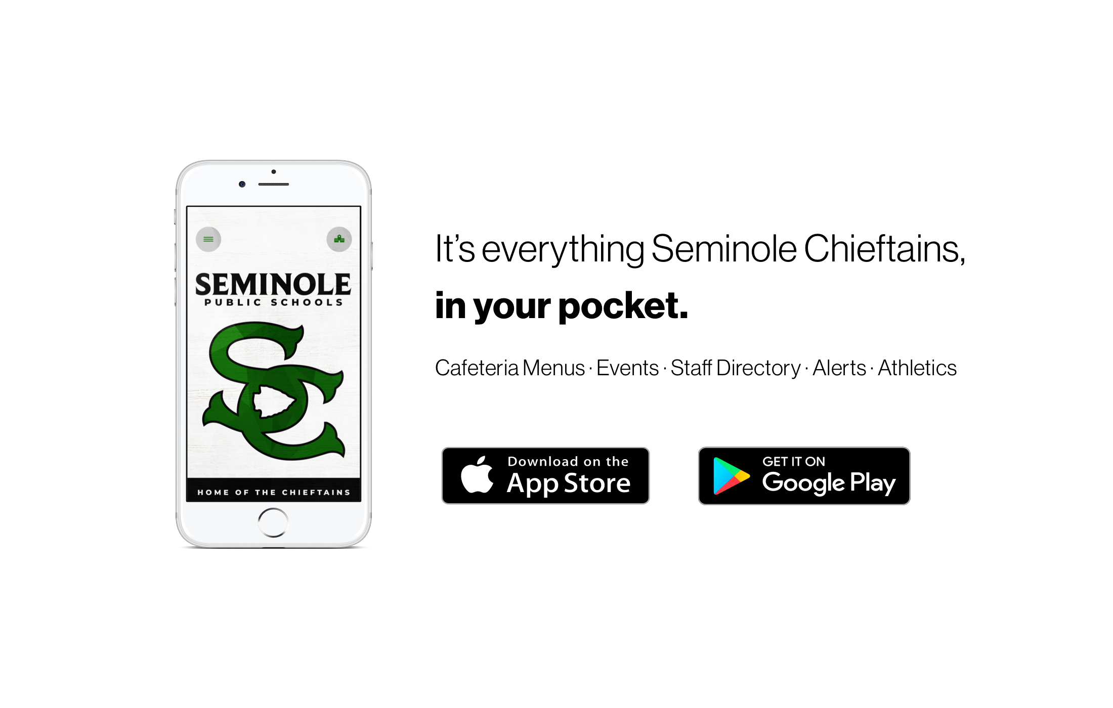 Seminole Public School has a new app. Download it on the App Story or Play Store.